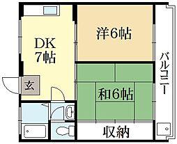 キャッスルKA[1階]の間取り