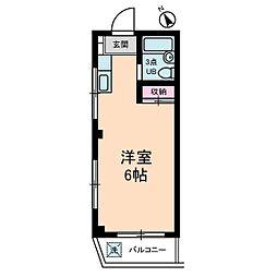 浅間下コーポ[3階]の間取り