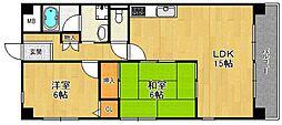シャンボール武庫之荘3[205号室]の間取り