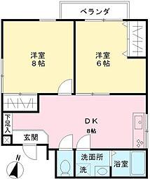 GRACE笹塚[204号室]の間取り