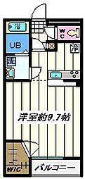 埼玉県富士見市関沢3丁目の賃貸マンションの間取り