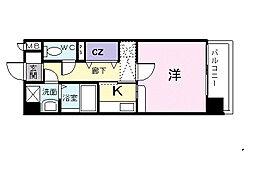 クリアネス賀茂[5階]の間取り