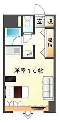 江坂アパートメント[9階]の間取り