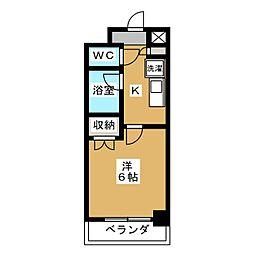 ピュア衣笠[4階]の間取り