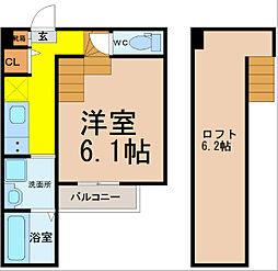 グリーンレイク中小田井(グリーンレイクナカオタイ)[1階]の間取り