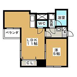 グレイス新栄[4階]の間取り