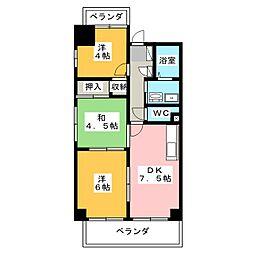 サーパス西古松 I[6階]の間取り