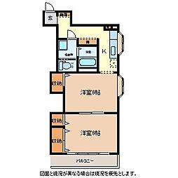 三ツ谷マンション[2階]の間取り