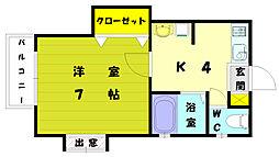 アパルトメントMK[2階]の間取り