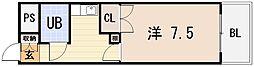 大阪府東大阪市横沼町1丁目の賃貸マンションの間取り