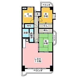 アメニティ雁道[13階]の間取り