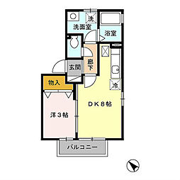 シュテルン上福岡II[1階]の間取り