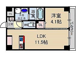 エール茨木本町[1階]の間取り