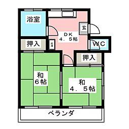 井上荘[1階]の間取り