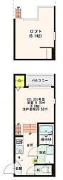 仮)高井田中3丁目SKHコーポ[2階]の間取り