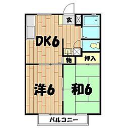 レスタチオン壱番館[102号室]の間取り