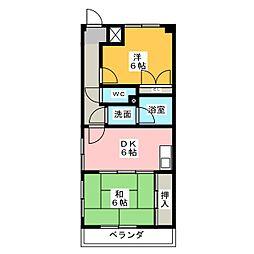 エソール勝川[3階]の間取り