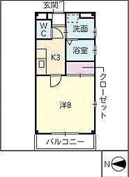 レジデンス ミツ[2階]の間取り