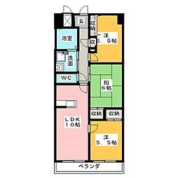 天神山マンション I号館[5階]の間取り