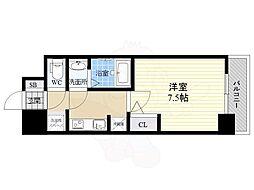 S-RESIDENCE江坂Eminence 3階1Kの間取り