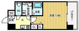 エスキュート梅田中崎町[12階]の間取り