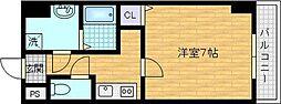 Osaka Metro谷町線 太子橋今市駅 徒歩5分の賃貸マンション 8階1Kの間取り
