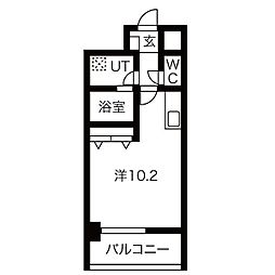 アレーヌコート野並(アレーヌコートノナミ) 5階1Kの間取り