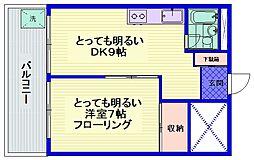 都営三田線 西巣鴨駅 徒歩7分の賃貸マンション 3階1DKの間取り