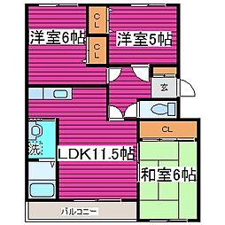 北海道札幌市東区北三十八条東12丁目の賃貸マンションの間取り