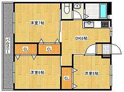 組坂ビル8[4階]の間取り