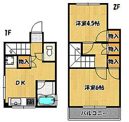 兵庫県神戸市兵庫区楠谷町の賃貸マンションの間取り