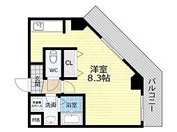 TOYOTOMI STAY PREMIUM 天王寺公園南3 8階1Kの間取り