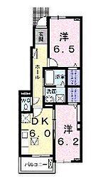 ファームティップII[1階]の間取り