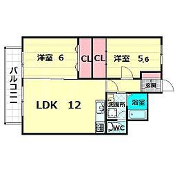 グリースシャトー桃山台[9階]の間取り