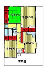 ストーム桜台[1号室]の間取り