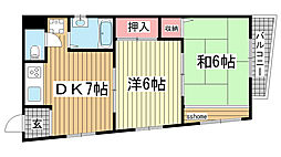 第一徳山ビル[401号室]の間取り