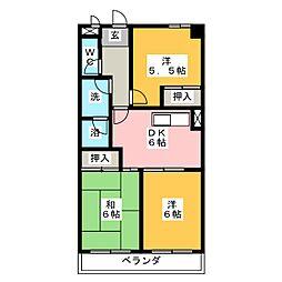 ソレアード川添[3階]の間取り