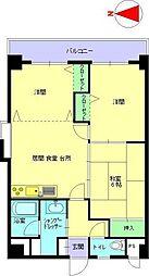 大阪府大阪市鶴見区横堤3丁目の賃貸マンションの間取り