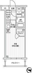 レジディア笹塚II[315号室]の間取り