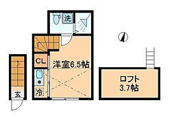 Happy上板橋[2階]の間取り