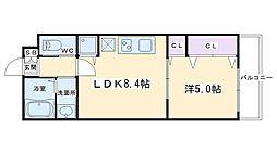 仮称)深草町通町新築マンション 4階1LDKの間取り