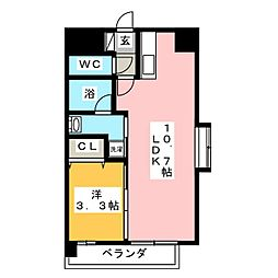 ピュア京橋[1階]の間取り