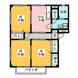 ライフイン・タイヘイ A棟[2階]の間取り