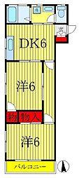 メゾンキノモト[2階]の間取り