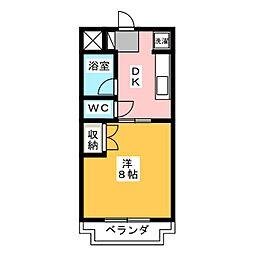 クレーバーマンションII[1階]の間取り