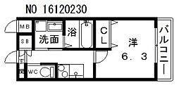 クローバーグランデ昭和町[9階]の間取り