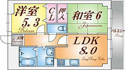 兵庫県神戸市長田区長尾町2丁目の賃貸マンションの間取り