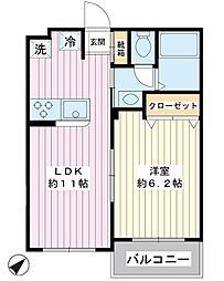 第2金子マンション[2階]の間取り