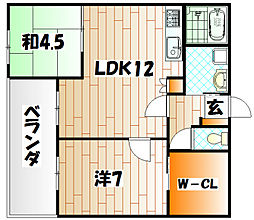 リバティガーデン熊本[4階]の間取り