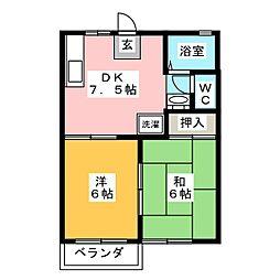 ロイヤルグリーンI[2階]の間取り